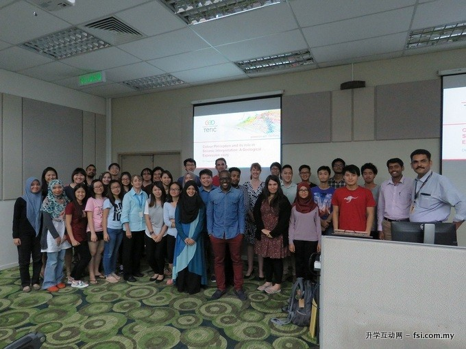 Group photo of participants attending the Student Lecture Tour at Curtin Sarawak.