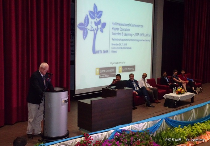 Professor Mienczakowski addressing the conference delegates.